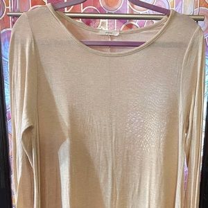 Easel size large tunic ruffles raw edged fabric